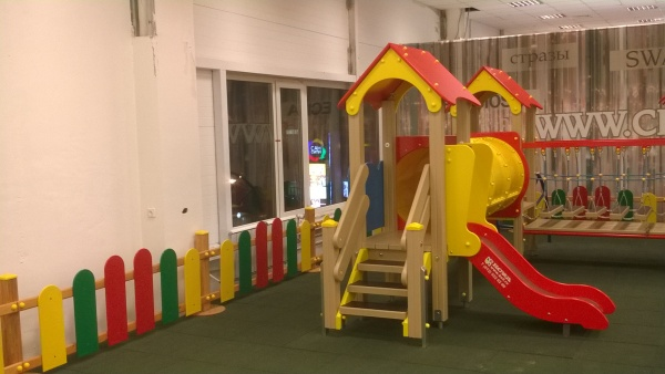 An indoor play structure